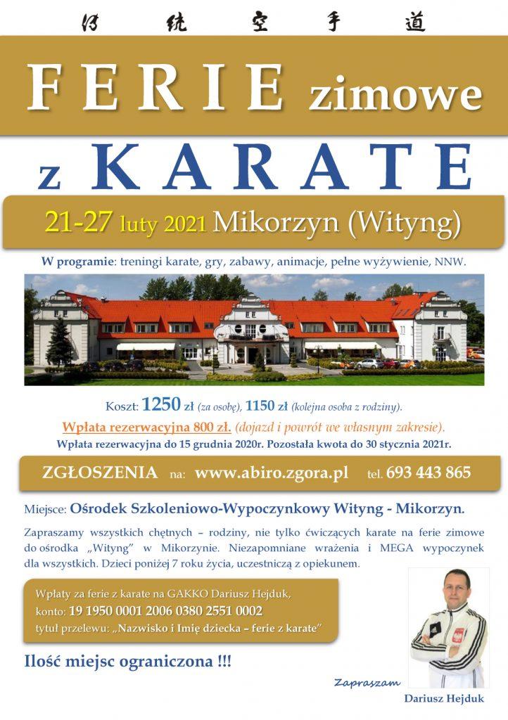 Ferie zimowe z Karate - Akademia BUDO i Rozwoju Osobowości