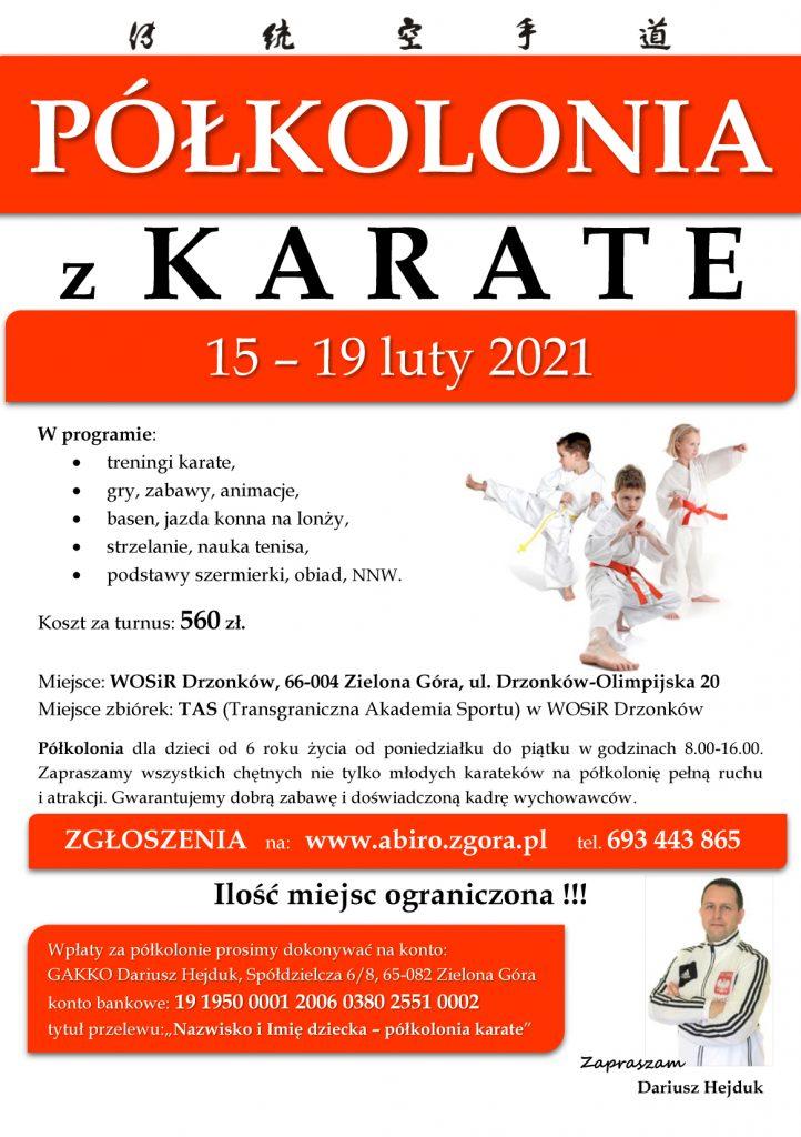 Półkolonia z Karate - Akademia BUDO i Rozwoju Osobowości